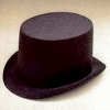 Black Felt Top Hat Large